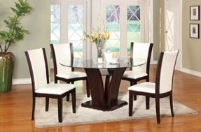 Camelia White Dining Set