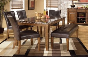 Ashley Lacey Dining Set with Bench