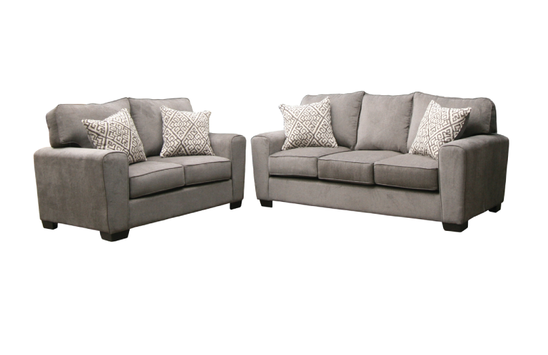 Revlon (Black) Sofa and Loveseat