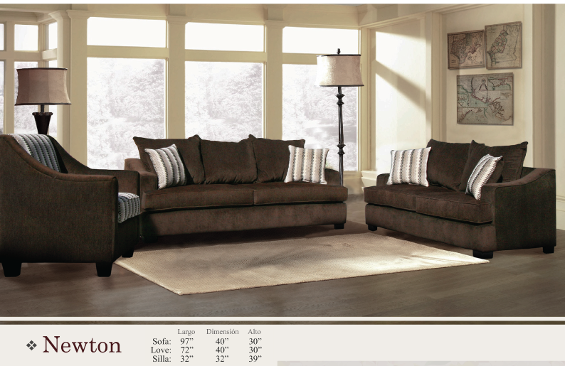 Newton (Blue-Gray) Sofa and Loveseat